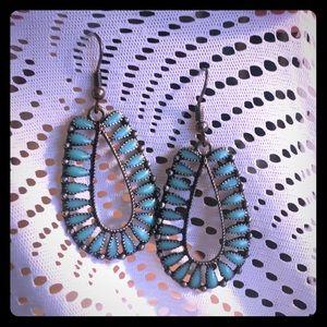 Jewelry - Boho faux turquoise earrings
